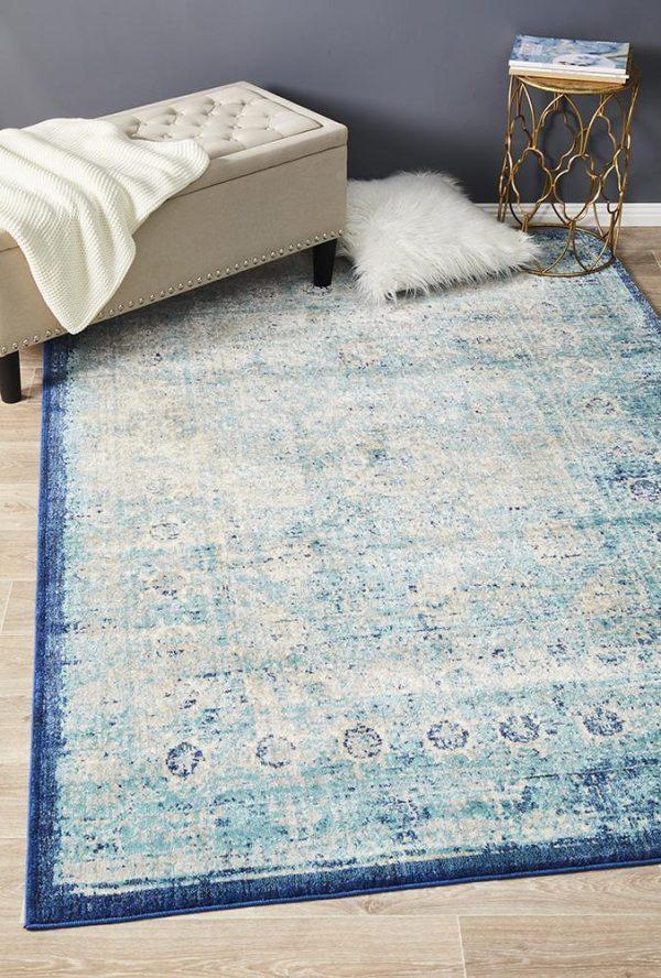 ANA-261-BLUE Contemporary Blue Rug - The Flooring Guys