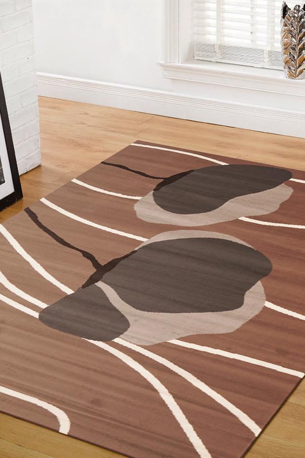 BCF-1589-N33 Modern Brown Rug - The Flooring Guys