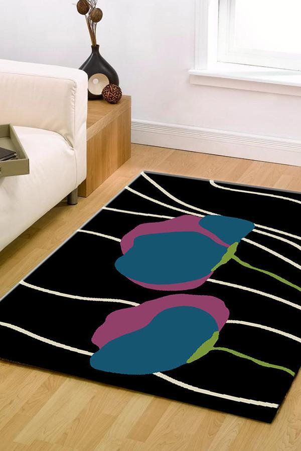 BCF-1589-U11 Modern Black Rug - The Flooring Guys
