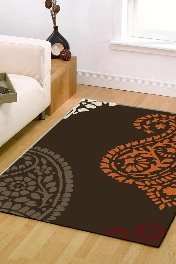 BCF-1639-S22 Modern Brown Rug - The Flooring Guys