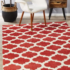 CIT-560-RED Modern Red Rug - The Flooring Guys