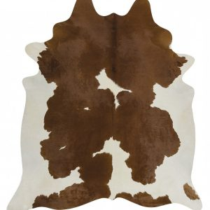 COWHIDE-NAT-BROWNW Cowhide Brown Rug - The Flooring Guys