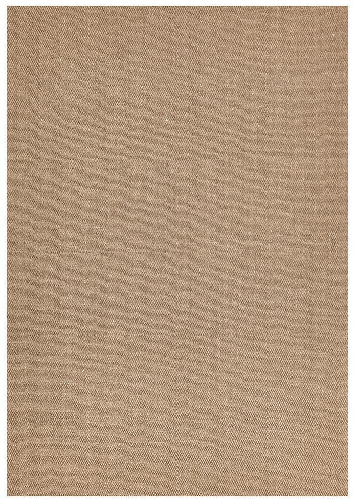 ECO-HER-BRO Flat Weave Brown Rug - The Flooring Guys