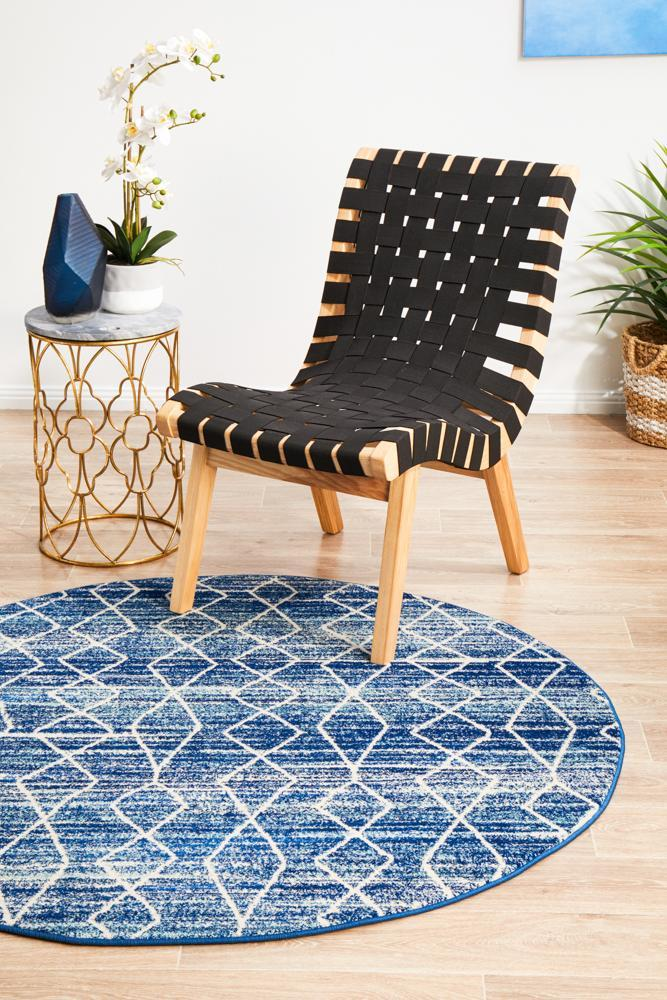 EVO-257-BLUE-RO Modern Blue Rug - The Flooring Guys