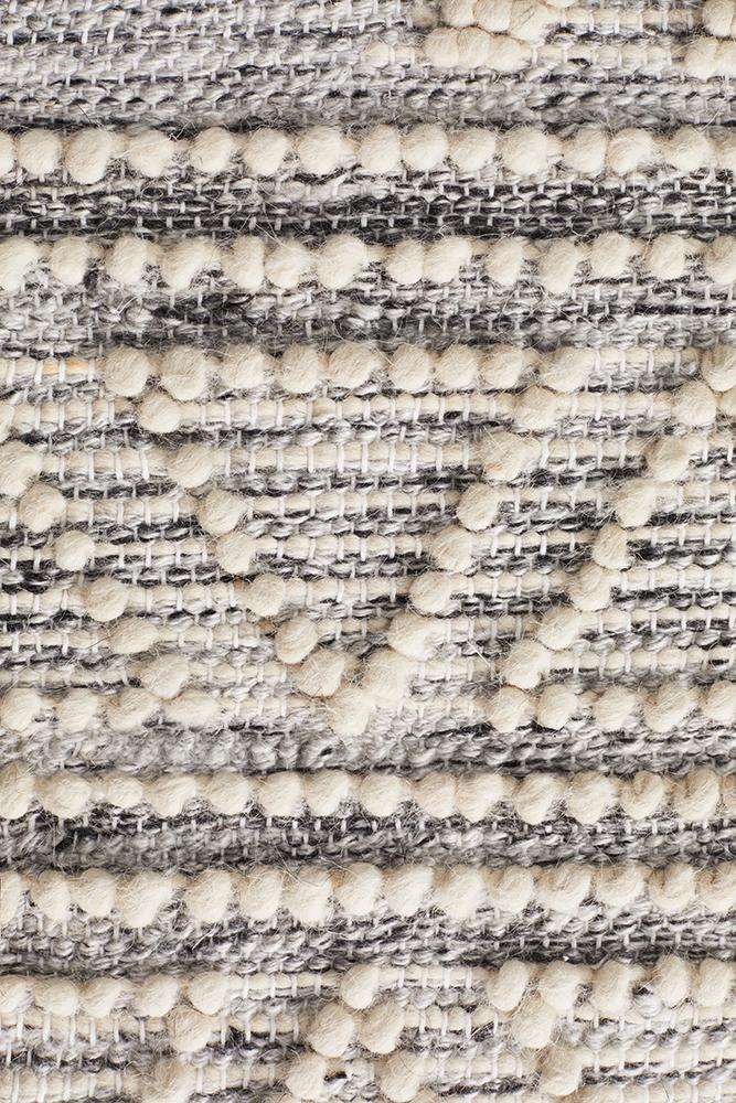 Esha Woven Tribal Rug Silver Grey