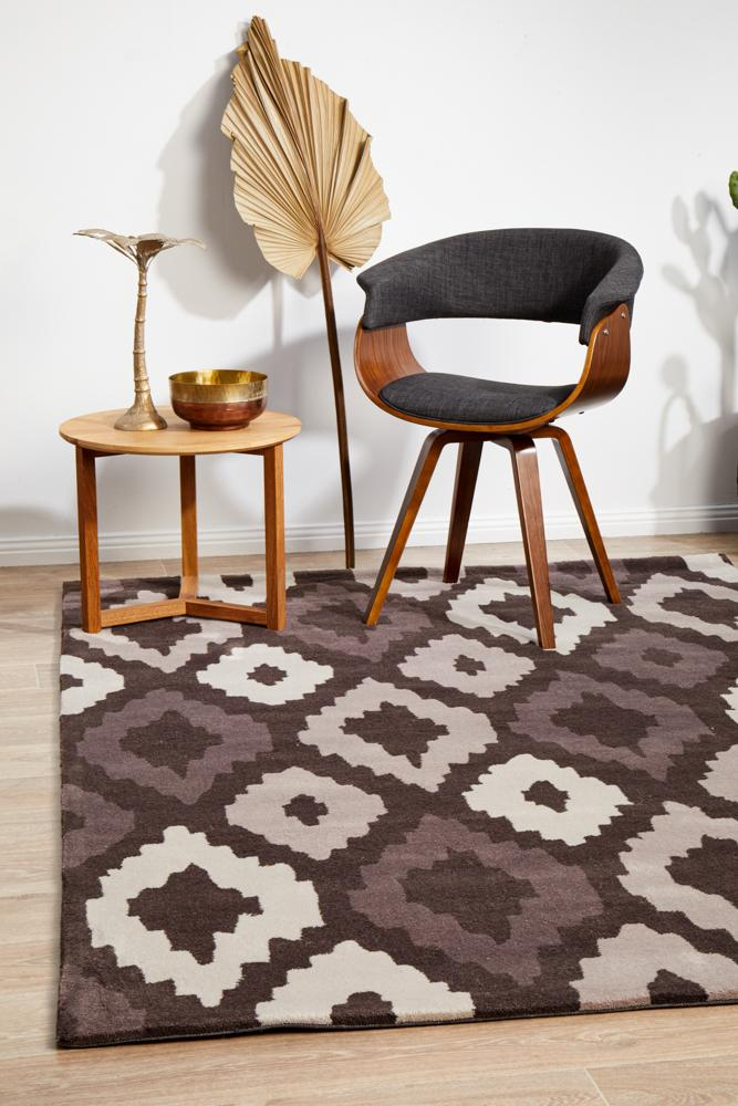 HV-627-BRO Modern Brown Rug - The Flooring Guys