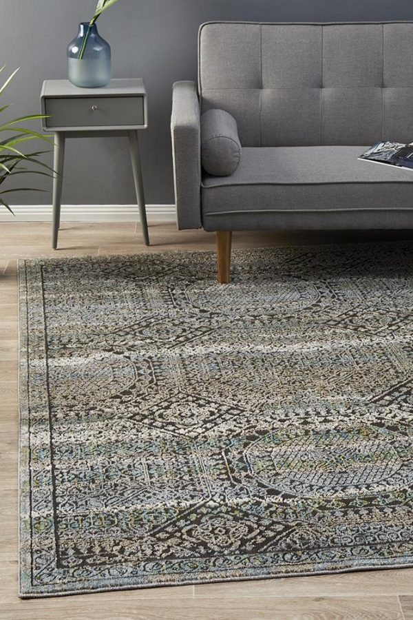 JEZ-160-BLUE Modern Blue Rug - The Flooring Guys