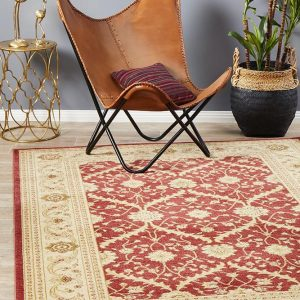 JWL-800-RED Traditional Red Rug - The Flooring Guys