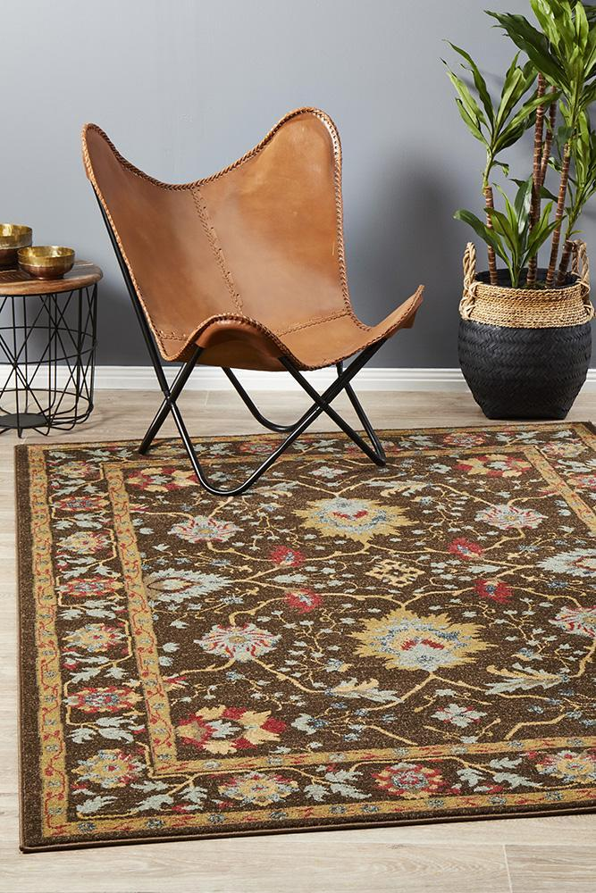 JWL-804-BROW Traditional Brown Rug - The Flooring Guys