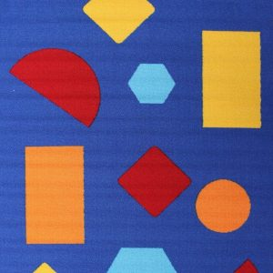LC-SHAPE-BLU Kids Blue Rug - The Flooring Guys