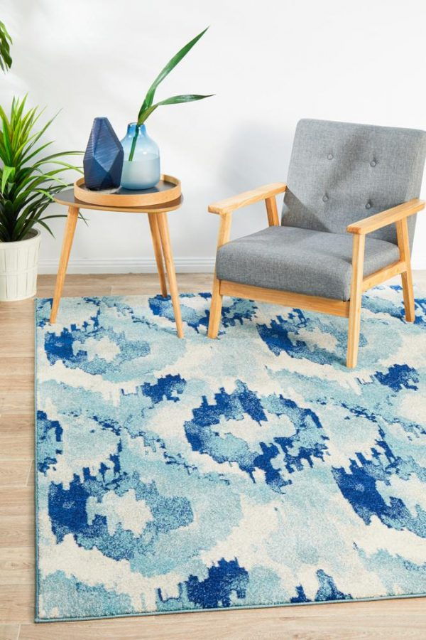 MIR-353-BLU Modern Blue Rug - The Flooring Guys