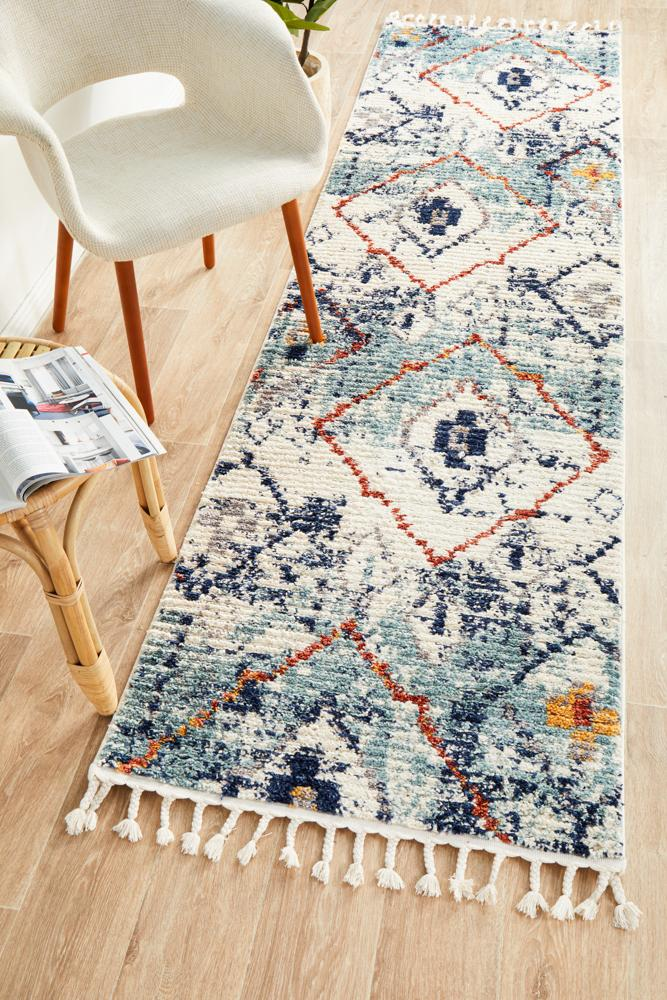 MKS-444-BLU-RU Contemporary Multi Rug - The Flooring Guys
