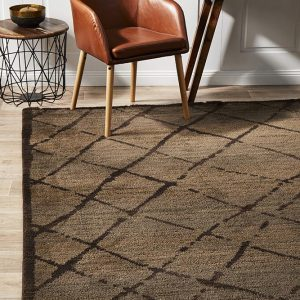 MOR-179-BRO Modern Brown Rug - The Flooring Guys
