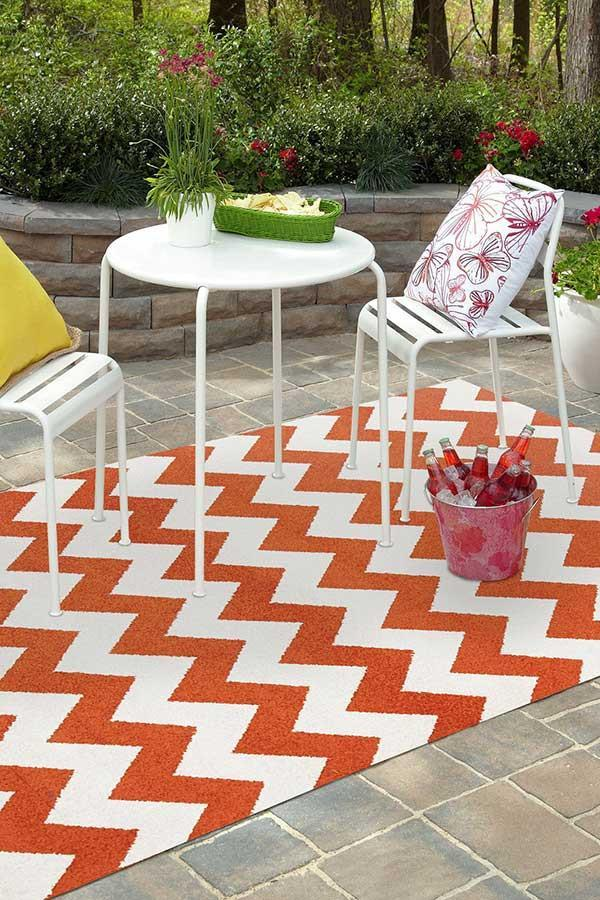 MRQ-305-ORAN Outdoor Orange Rug - The Flooring Guys