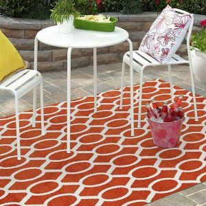 MRQ-313-RUST Outdoor Rust Rug - The Flooring Guys