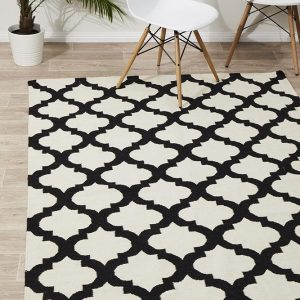 NOM-15N-BLACK Flat Weave Multi Rug - The Flooring Guys