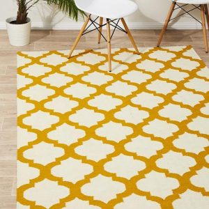 NOM-15-GOLD Flat Weave Gold Rug - The Flooring Guys