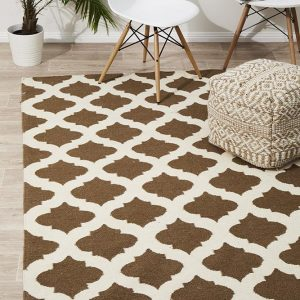NOM-15-TAUPE Flat Weave Multi Rug - The Flooring Guys