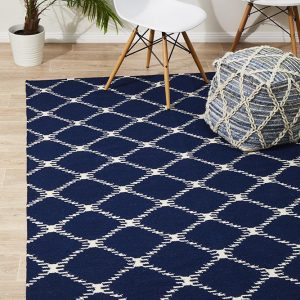 NOM-19-NAVY Flat Weave Navy Rug - The Flooring Guys