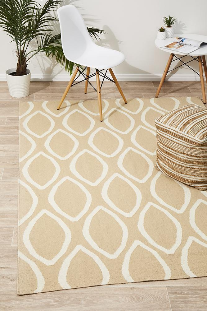 NOM-20-BEIGE Flat Weave Beige Rug - The Flooring Guys
