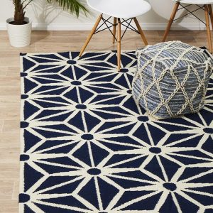 NOM-29-NAVY Flat Weave Navy Rug - The Flooring Guys