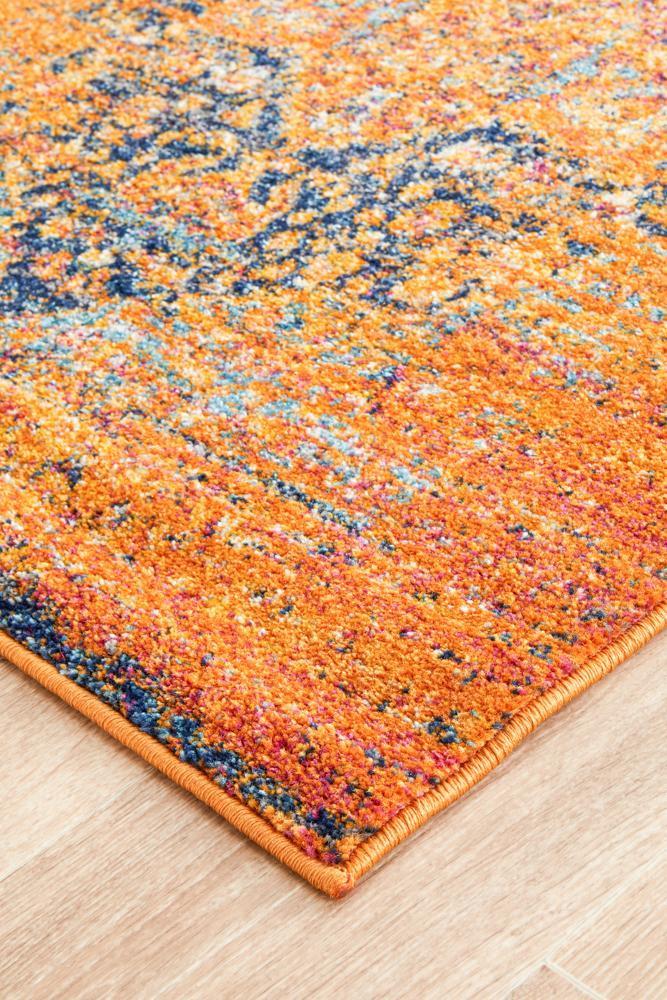NOM-16-ORANGE Flat Weave Orange Rug - The Flooring Guys