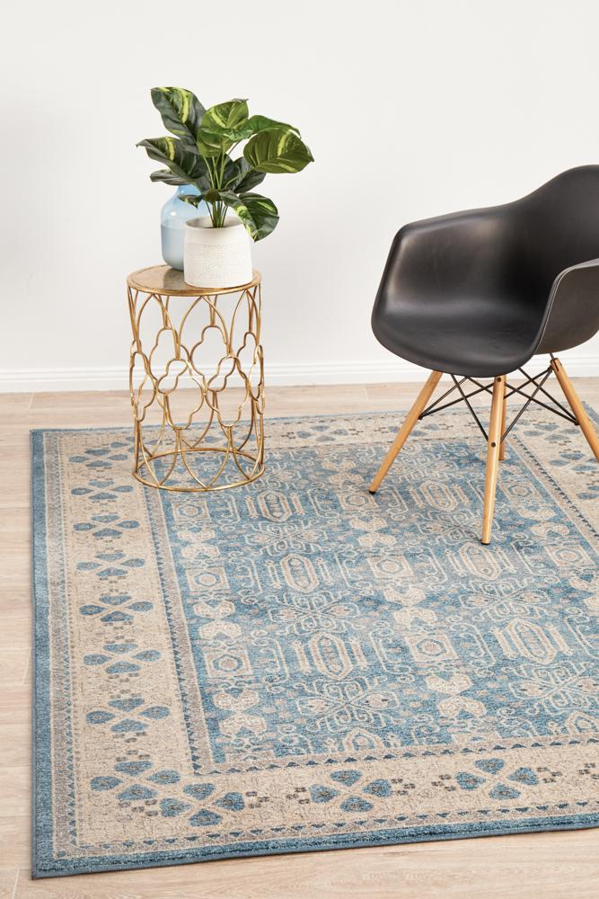 SOP-880-BLU Traditional Blue Rug - The Flooring Guys