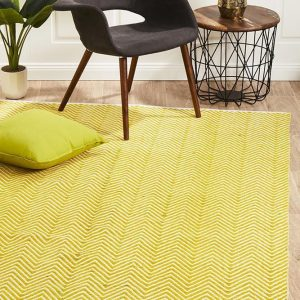 SPI-CHE-YELL Flat Weave Yellow Rug - The Flooring Guys